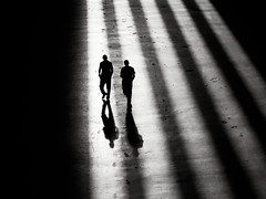 (donvucl) Tags: light bw london shadows stripes tatemodern figures donvucl olympusepl5
