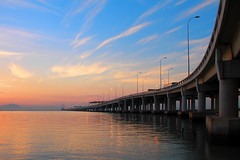 ... Penang Bridge (Keris Tuah) Tags: travel vacation color art water clouds canon asia malaysia penang recovery keris treatment tuah keristuah
