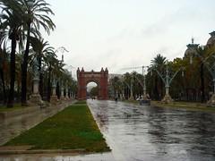 Regen in Barcelona