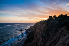 El Matador State Beach (Photography by Jonathan Willner) Tags: ocean california sunset seagulls mountain art beach nature water beautiful birds evening la flying scenery rocks waves natural pacific god jesus relaxing peaceful malibu creation socal southerncalifornia genesis