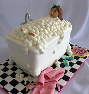 Bubble Bathtub Spa cake med