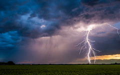 That was Bright (WherezJeff) Tags: canada storm rain weather night landscape twilight close bright fork bolt lightning loud