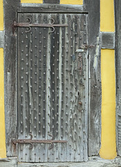 Private Door (canong2fan) Tags: door uk england castle private geotagged wooden hereford stokesay hinges studded canong1x
