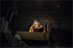 Never ending story (Tomas.Kral) Tags: woman girl reading book blond fujifilm strobe orin neverendingstory atic speedlite yn560ii x100s