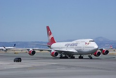 Virgin Atlantic Boeing 747 -400 taxiing, SFO DSC_0250 5K views, 13 faves (wbaiv) Tags: sfo july airliners 28 from swa 737300 nikon 55300 airplane airliner passenger jet boeing 747 747400 744 taxiing classicairliners ai2014 airlinersinternational 2014 tolax flying down lax 4engine fourengine obsolete outofproduction legacy classic discontinued 4enginejet aircraft plane outdoor vehicle richard branson virgin atlantic 4 engine jumbo jumbojet boeing747 747300