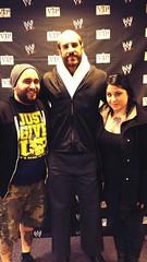 Brandon Holeva, clearly a Cena fan, with Cesaro