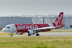 Air Asia - A320-216 - F-WWIQ (Petnek) Tags: red white airplane airport aircraft aviation hamburg airasia finkenwerder airbusa320216 fwwiq nikond7000 sharklet nikon70200mmf4