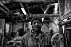 Moussa (johann walter bantz) Tags: 93 banlieueparisienne pantin 35mm nikond4s blackwhite bnw social everydayeverywhere works working usine documentary reportage