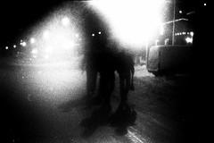 the eyes in the night - 3 pêcheurs reviennent du bal (asketoner) Tags: street new city eve winter party vacation monster night walking island iceland back eyes shadows walk newyear citylights years bags peninsula walkers nightwalk snaefellsness olafsvik isklandi
