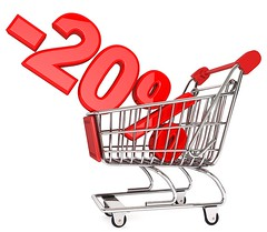 20% off (American Lifestyle) Tags: red white sign promotion shop retail price illustration marketing store discount commerce basket symbo