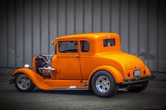 3560 32 Ford 5 Window (Paul Rioux) Tags: auto orange ford automobile automotive hotrod customized modified custom coupe streetrod prio fivewindow