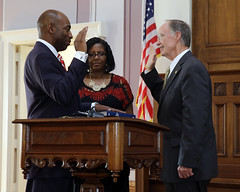 08-04-2014 Fitzgerald Washington sworn-in as Labor Commissioner