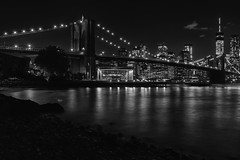 DSC_0002.B&W (VDE_LIMA) Tags: park nyc bridge bw monochrome skyline brooklyn night river nikon manhattan brooklynbridge d810 nikon2470