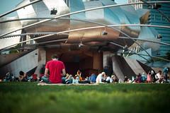 Jay Pritzker Pavilion, MIllenium Park Chicago 2014 (luchador_lb) Tags: park city summer people chicago architecture concert jay millenium millennium pavilion millenniumpark pritzker