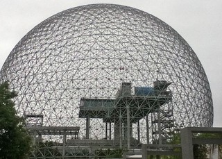 biosphere with structures within f