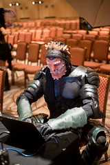 Las Vegas (arterial spray) Tags: startrek fiction rio upload fan costume lasvegas cosplay candid laptop space alien science homemade fantasy convention scifi outerspace spikes con trekkie auditorium trekker 2014 startrekconvention dalliswillard