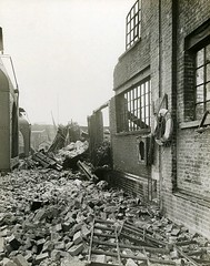 D P & L - London Blitz (Dundee City Archives) Tags: london docks force dundee air 1940 cranes german wharf damage ww2 raid bomb blitz destroyed bombing warehouses worldwar2 limehouse luftwaffe dockside dockland dpl dundeeperthlondonshippingcompany