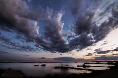 The great cloud. (Ciro Santopietro) Tags: travel sunset italy clouds reflections landscape boat italian nikon europa italia tramonti paesaggi puglia taranto apulia d600 baats