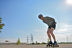 Inline Skate Selfie (fotofrysk) Tags: ontario canada track exercise remote skater selfie thornhill slowspeed inlineskater speedskater nikond7100 gigatproii