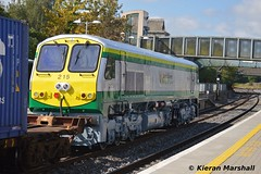 215 passes Portarlington, 8/9/14 (hurricanemk1c) Tags: irish train gm rail railway trains railways irishrail 201 215 generalmotors 2014 portarlington freshpaint emd iwt iarnrd newlivery ireann iarnrdireann newlogos 0935northwallballina internationalwarehousingtransport