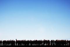Crowd (CoolMcFlash) Tags: vienna wien bridge blue light sky people canon photography eos austria licht österreich fotografie audience many crowd himmel minimal menschen negativespace blau minimalism tamron minimalistic viele silhoutte personen zuschauer umris 2470 minimalistisch kontur blueandblack zuschauen a007 60d ansammlung