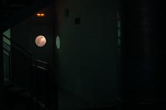 (pine apple lime) Tags: light orange window dark industrial steel pipes steps stairwell porthole emergency albir
