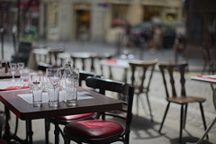 Montmartre, Paris, France (Atomic Eye) Tags: montmartre paris france bar glasses rightbank 18tharrondissement cafe hill street table chairs bokeh outdoor seating travel city scene beer heinken glass bottle relax enjoy carefree