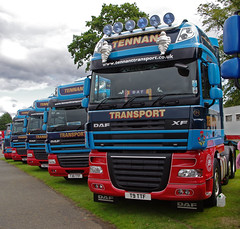 Tennant Transport of Forth DAF XF T9TTF (andyflyer) Tags: truck lorry forth trucking haulage truckfest hgv roadtransport dafxf roadhaulage tennanttransport t9ttf truckfestscotland2014 2014truckfest 2014truckfestscotland