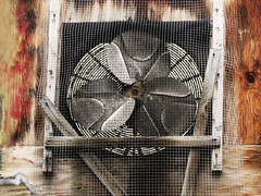 Industrial Fan (shaire productions) Tags: street old urban detail macro building photo industrial