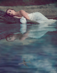 Marooned (Lake of Sorrow) ({jessica drossin}) Tags: portrait woman lake water plane lost photography alone dress ripple naturallight shore sorrow marooned jessicadrossin