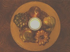 14.09.24-Day 158 (L'Shana Tova) (WanderingJackalope) Tags: autumn fall gold glow candle walnut newyear september flame gourd photoaday pear 365 decor arrangement dailyphoto nutmeg tova shanatova roshhashanah 5775 lshanatova uploaded:by=flickrmobile flickriosapp:filter=nofilter wanderingjackalope