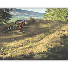 Big Bear Mountain Resorts Bike Park at Snow Summit in Big Bear Lake, California. Nice Berm Shot.