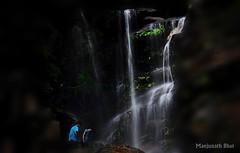 Couple enjoying spectacular moments ... (Manjunath Bhat Mangalore) Tags: nature falls waterfalls karnataka westernghats naturephotography savenature nikond90 manjunathbhat