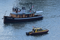 Viking King alongside SAR 7 (drmack2) Tags: king 7 parade viking lucille fraserriver sar newwestminster johnstone workboat rcm