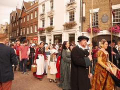 P1090852 (Historyworks Photography) Tags: costumes cambridge england english history church public st choir elizabeth britain churches stjohns chapel queen monarch marys soldiers british kingscollege pageant crowds johns royalty thepast monarchy queenelizabeth royals historyworks greatstmarys ladiesinwaiting historicalreenactment historicbuildings royalvisit tudors gloriana universityofcambridge earlymodernperiod historyneedsyou september2014 passmezzo elizabethanpageant