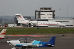 A9C-BHR (aitch tee) Tags: bahrain landing visitors gulfstream bizjet cardiffairport g450 viptransport a9cbhr