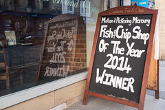 Fish n Chip Shop of the Year (Simon Downham) Tags: fish shop cafe harbour yorkshire best chips eat winner cod plaice batter pickering 2014