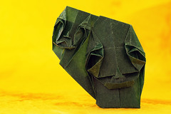 Me, myself and I (De Rode Olifant) Tags: art paper paperart 3d origami mask diagrams glassine twofaces paperfold theperfectphotographer toyoakikawai marjansmeijsters