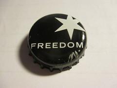 Freedom - Organic Dark Larger (kalscrowncaps) Tags: beer soft caps ale cider drinks crown bier soda pils lager