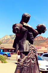 Statue with the Red Rocks Of Sedona, Az in the background (scrapcrazy99) Tags: statue sedona redrock