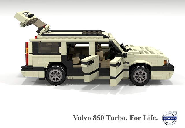 auto car wagon volvo model estate lego stuck sweden render 1996 swedish turbo t5 challenge 92 1990s 90s cad lugnuts 850 boxy povray moc ldd miniland lego911 stuckinthe90s