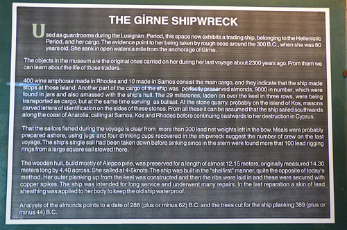 Girne - castle Roman shipwreck info board