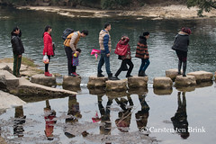 Stepping Stones (10b travelling) Tags: 10btravelling 2016 anshun asia asie asien bouyei bouyi buyi carstentenbrink china chine chinese guizhou iptcbasic prc peoplesrepublicofchina shitouzhai southwest tai ethnic group minority pond province reflection southernchina stepping stones tenbrink 中华人民共和国 中国 布依族