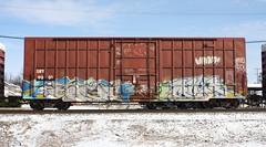 Each/Blur (quiet-silence) Tags: graffiti graff freight fr8 train railroad railcar art each blur boxcar sry sry9001