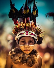Child In Goroka (Stuck in Customs) Tags: goroka papuanewguinea stuckincustoms treyratcliff ilce7r sony tufi horizontal colour color day outside outdoor outdoors colourful tribe tribal shot people depth tree rr trey ratcliff face paint green black brown plant eyes focuspoint stuckincustomscom island actionshot depthoffield bright tattoo tradition girl shell forest village palm october 2015 p2017 hdr hdrphotography
