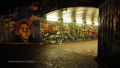 The Host and the Revellers (Mars Mann) Tags: tunnel graffiti lowlight nightphotography urbancity creativeart urbanstreets underground lights lightandshadow path marsmannphotography subway unitedkingdom