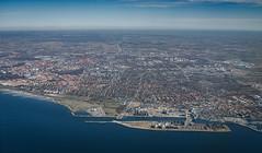 Malmö from above (Aaron James Rodgers) Tags: aerialphotography city scandinavia windowshot sweden malmö travel sea