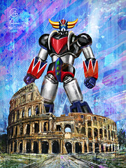 Grendizer Colosseum (http://www.agatti.com) Tags: scifi alternate reality uchronia robot mecha kaiju monster crossover anime manga fanart fan art ucronia sciencefiction atlas goldrake ufo grendizer princedukefleed actarus italy rome colosseum coliseum flavianamphitheatre roman forum domination standing rules rulez