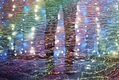 Chrome Rain (Hayden_Williams) Tags: rainbow colorful colors bright vibrant gay pride spectrum shine radiant legs feet bottom girl woman shadow silhouette person doubleexposure multipleexposure tripleexposure film analog analogue magic lights canonae1 fd50mmf18 kodakportra400 tokyo japan asia