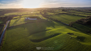 Newgrange and cursus from the air